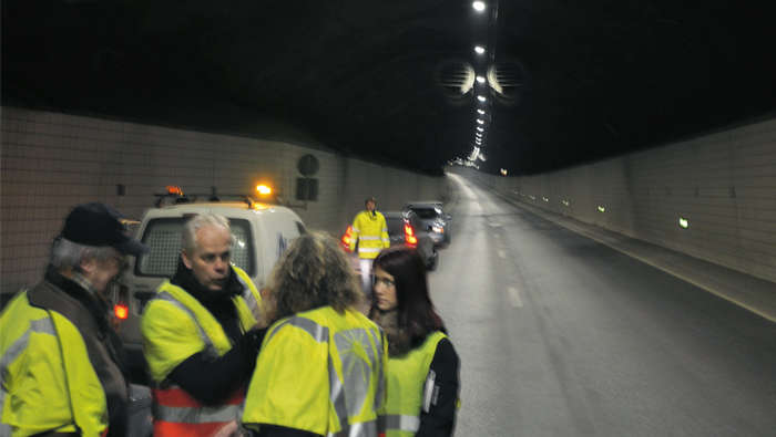 Lundbytunnel verlicht door Philips