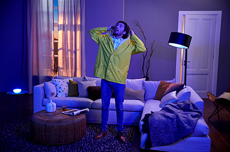 If it's time to go to the gym, Then have my Philips Hue lights flash red