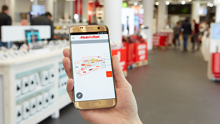 Media Markt Eindhoven Philips Indoor Positioning navigation shop