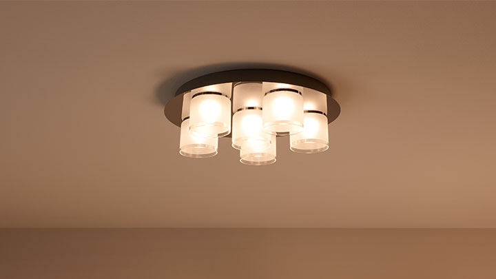 Plafondlamp met Philips LED-spots