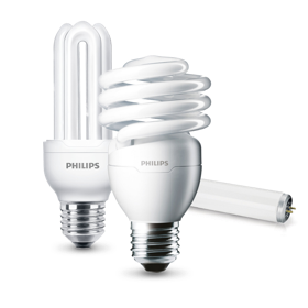 Collection d'ampoules CFL Philips